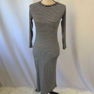 GAP VTG 90's bodycon Striped maxi dress long XS
